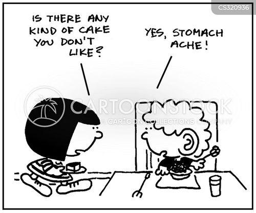 tummy ache cartoon