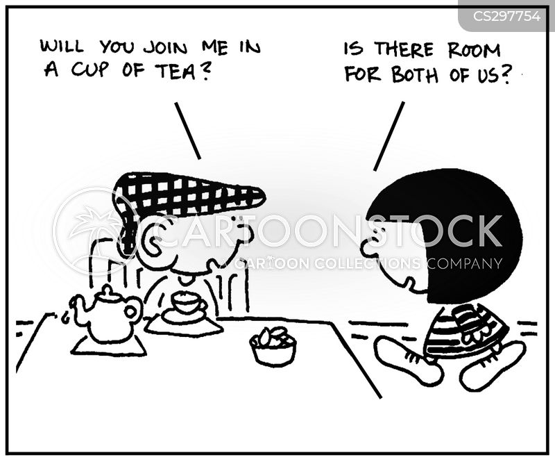 cups of tea cartoon