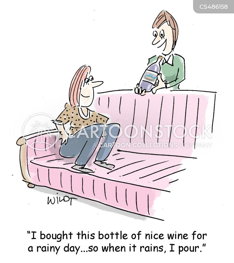 wine racks cartoon