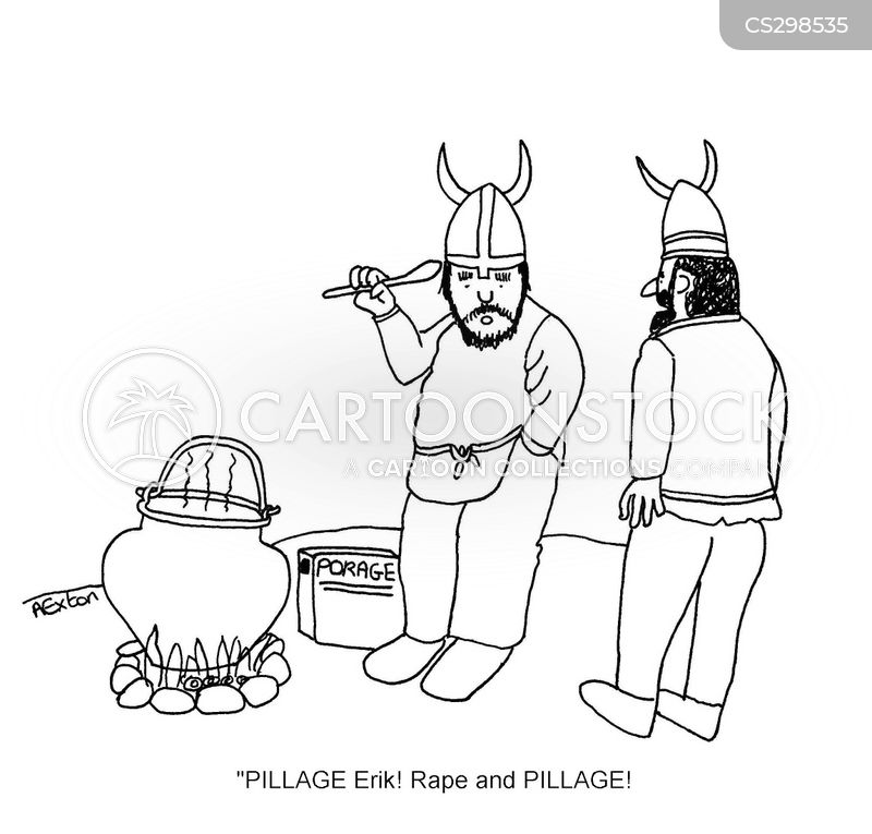 viking porridge cartoon