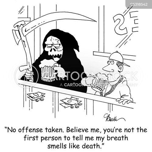 hallitosis cartoon