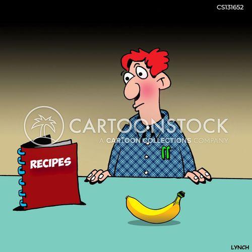 cooking book cartoon