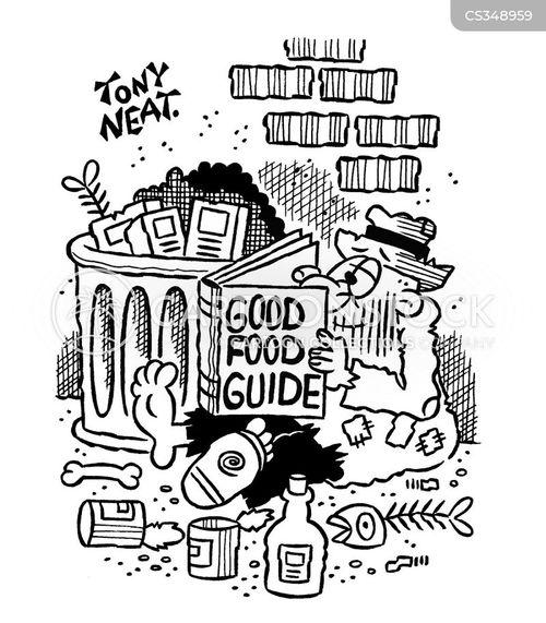 food guides cartoon