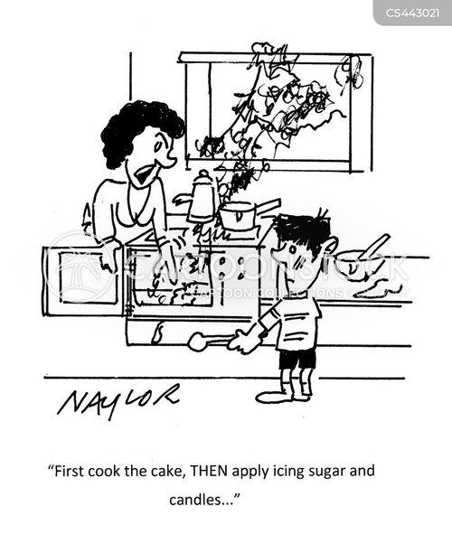 icing sugar cartoon