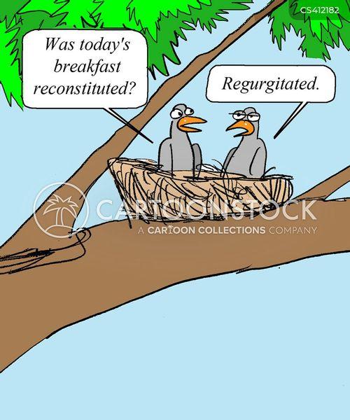 regurgitated food cartoon