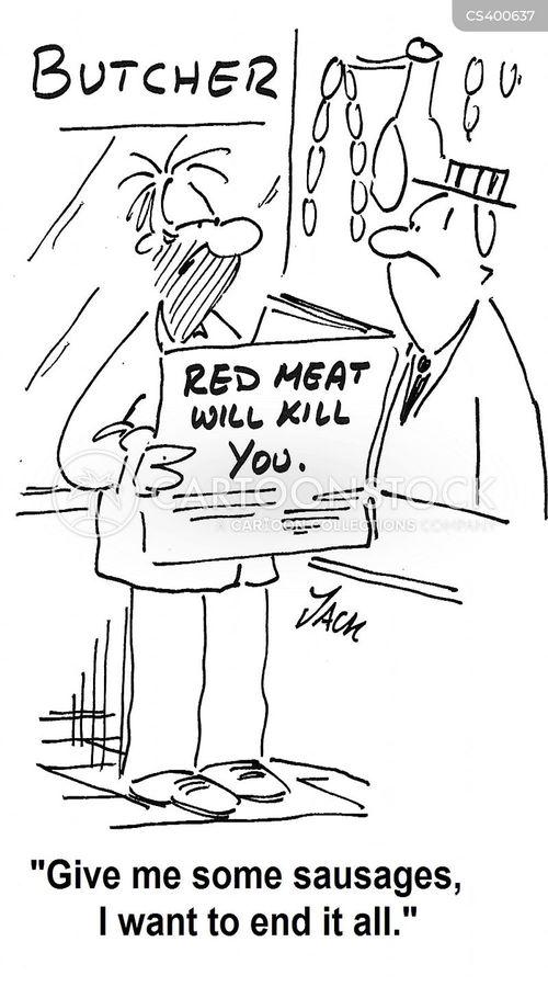 processed meat cartoon
