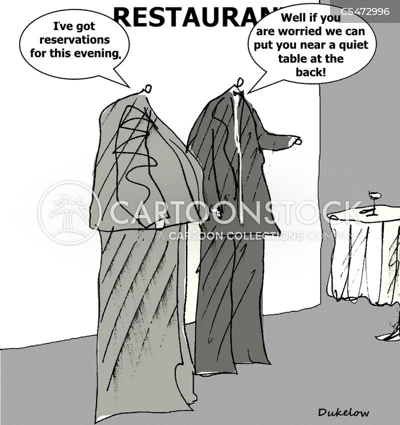 table reservation cartoon