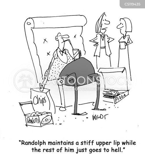 stiff upper lip cartoon