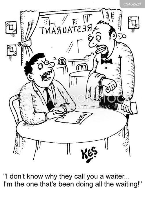 poor service cartoon