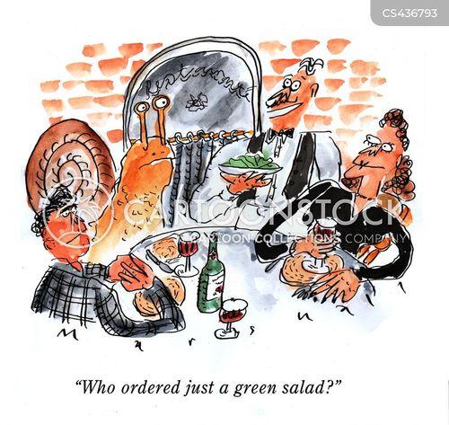 restaurant order cartoon
