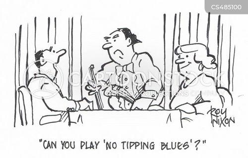 no tipping cartoon