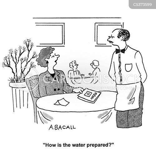 waitressing cartoon