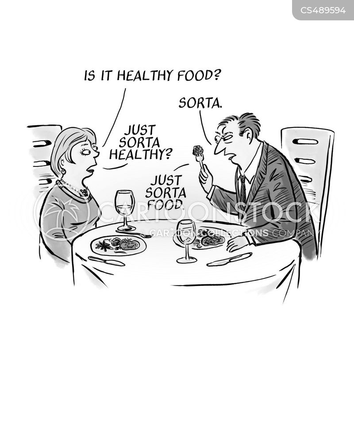 food criticism cartoon