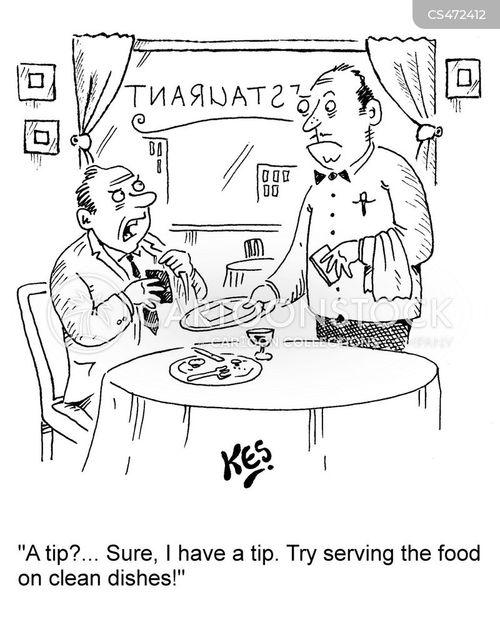 clean dishes cartoon