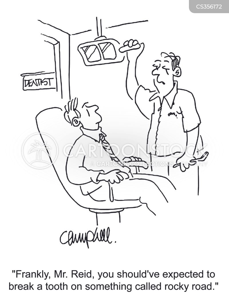 chipped tooth cartoon