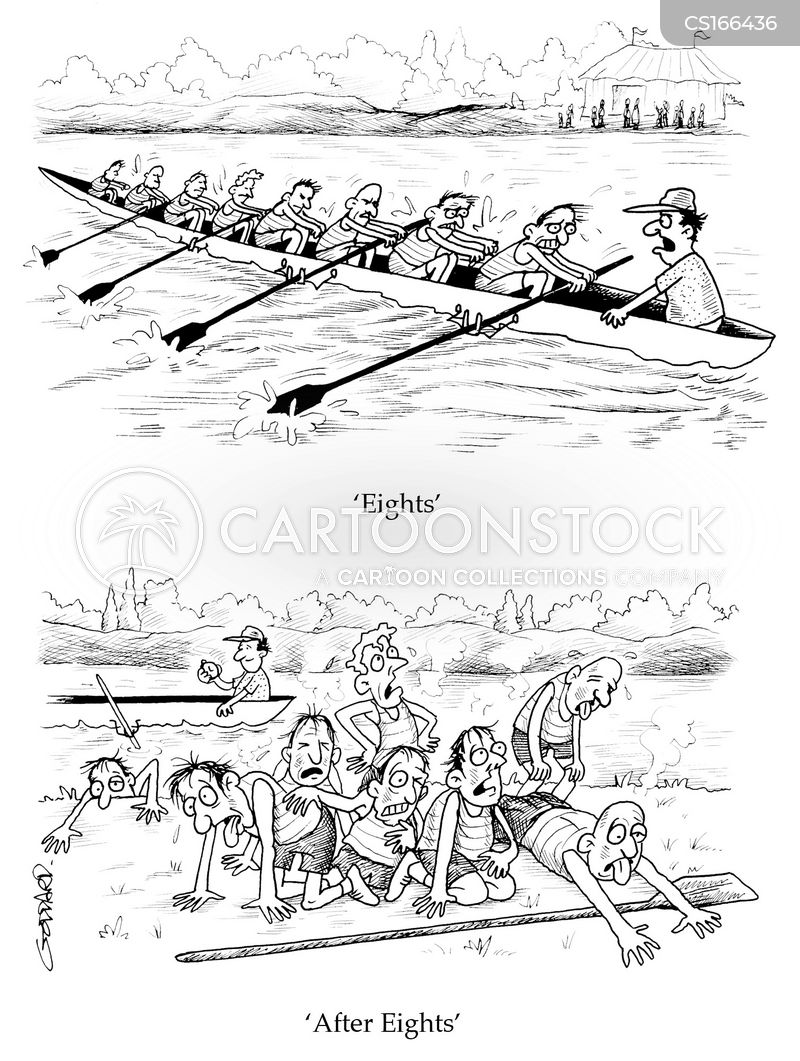 rowing competitions cartoon