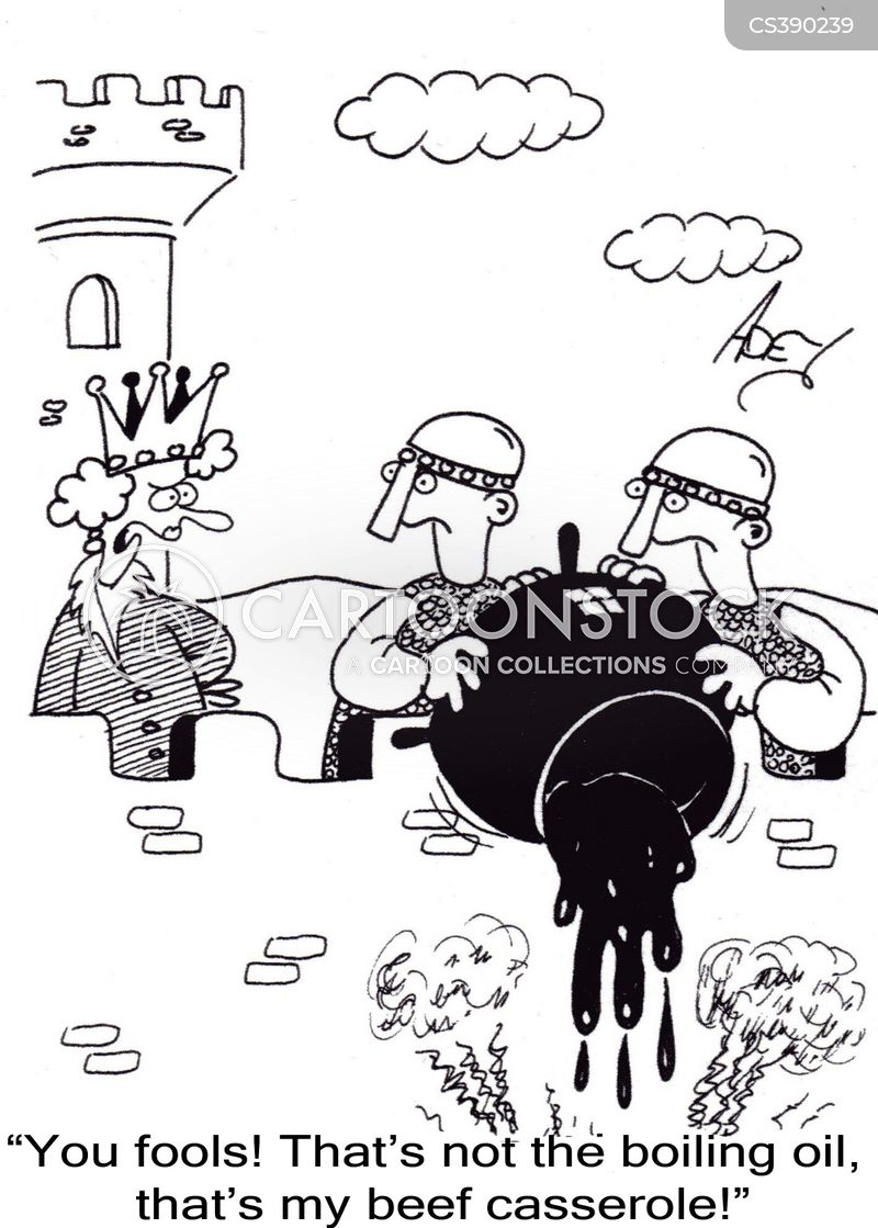 boiling oil cartoon