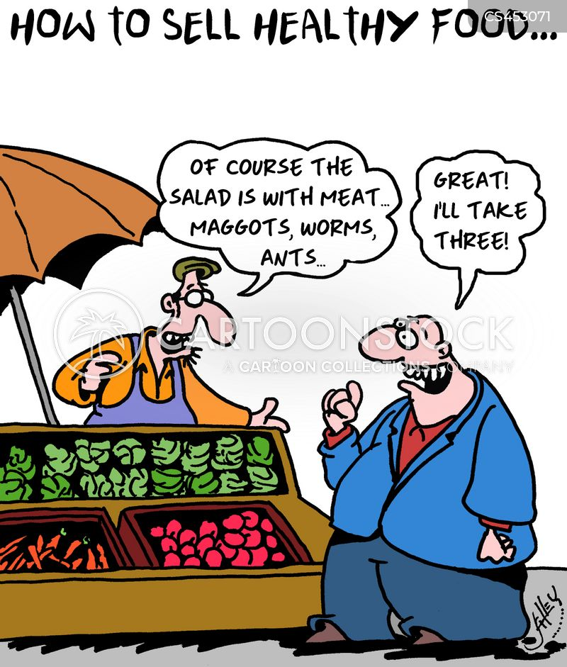 clean eating cartoon
