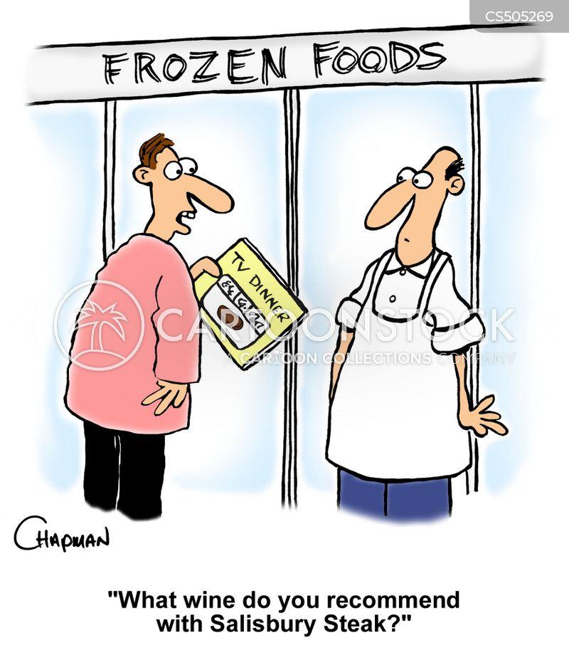 frozen meals cartoon