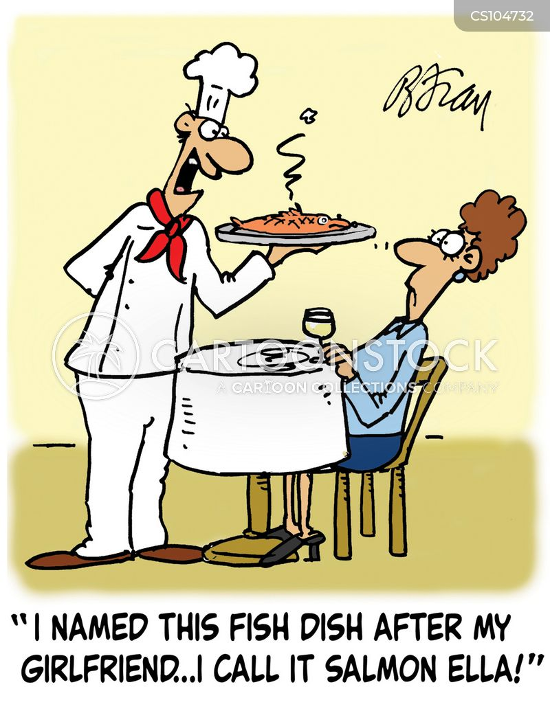 seafood dishes cartoon