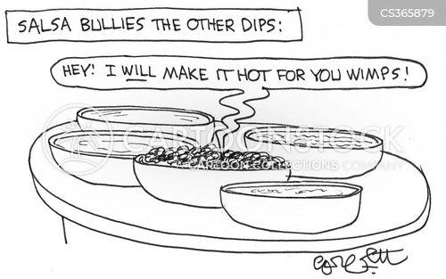 hot foods cartoon