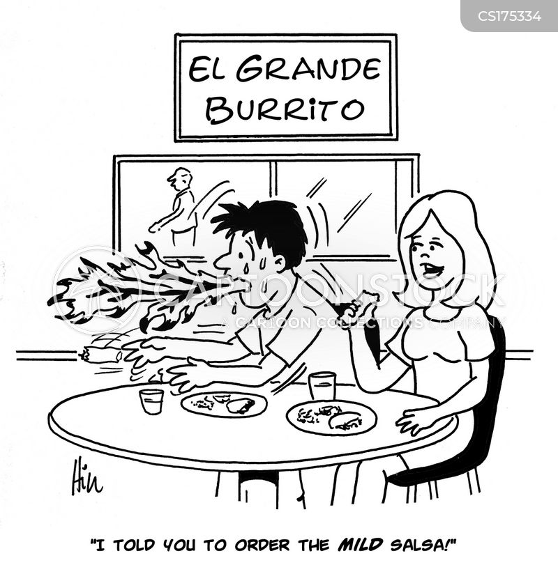 spicy food cartoon