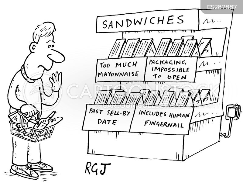 sell-by date cartoon