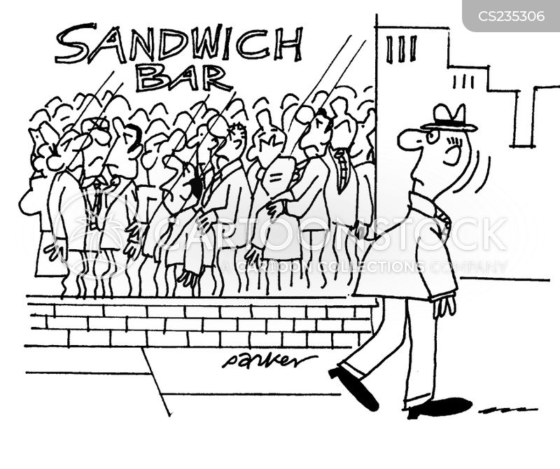 sandwich shops cartoon