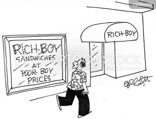 sandwich shop cartoon