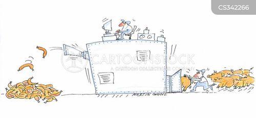 food manufacture cartoon