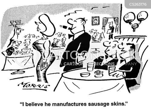 sausage manufacturer cartoon