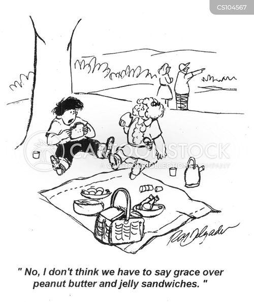 jelly sandwich cartoon