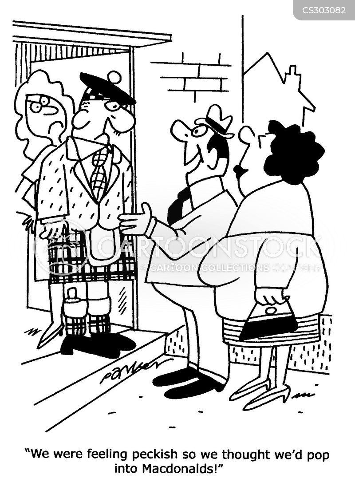 Scottish Surnames Cartoon 1 Of