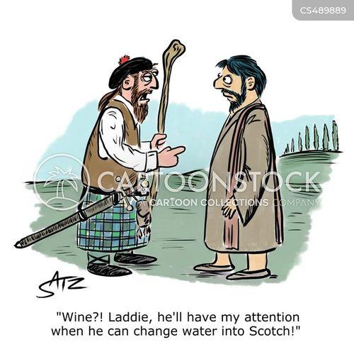 scotsmen cartoon