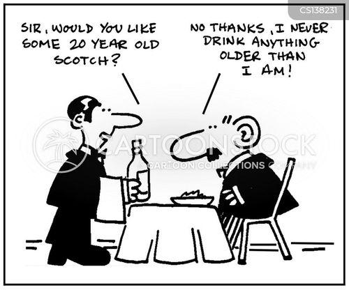 drink menus cartoon