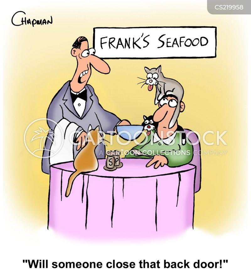 fish restaurants cartoon