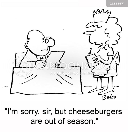 eating seasonally cartoon