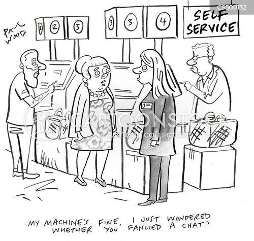 self services cartoon