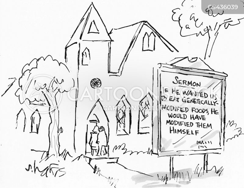 sunday worship cartoon