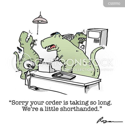 short handed cartoon