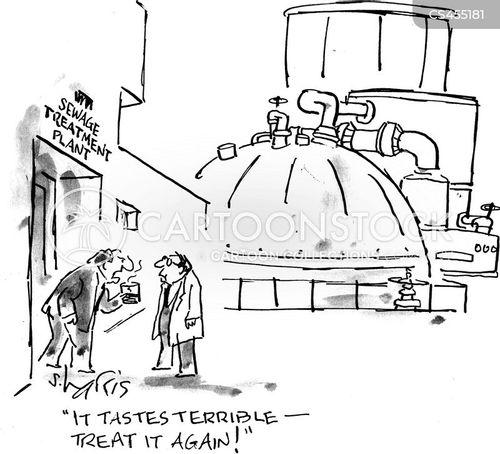 drinking water cartoon