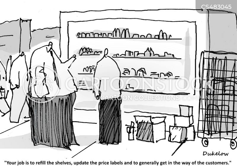 shelf stacker cartoon