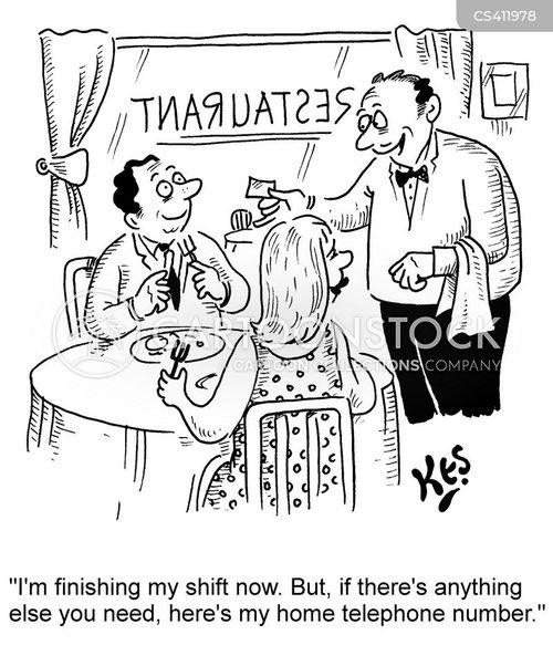 restaurant shift cartoon