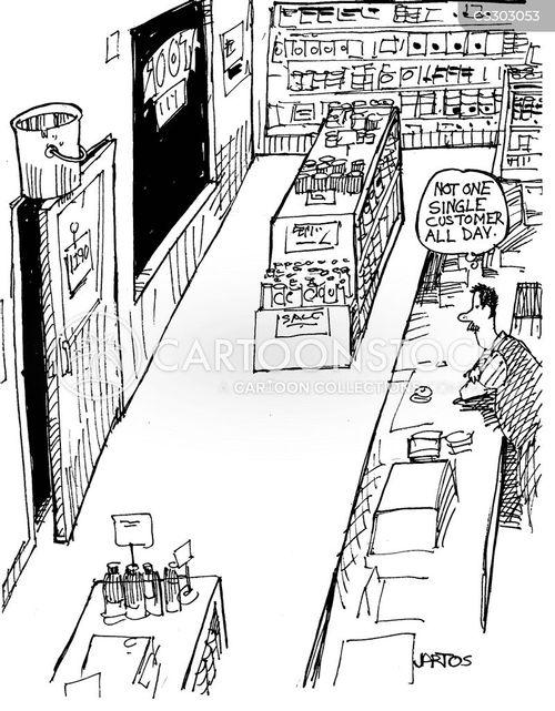corner store cartoon