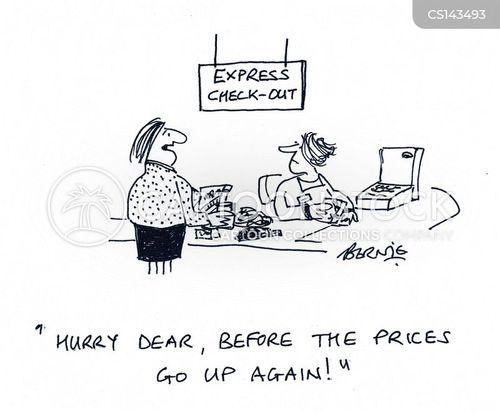 rising costs cartoon