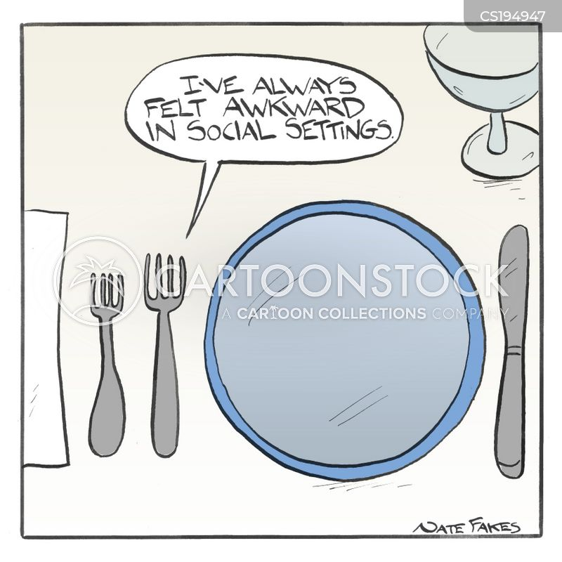 dinnerware cartoon