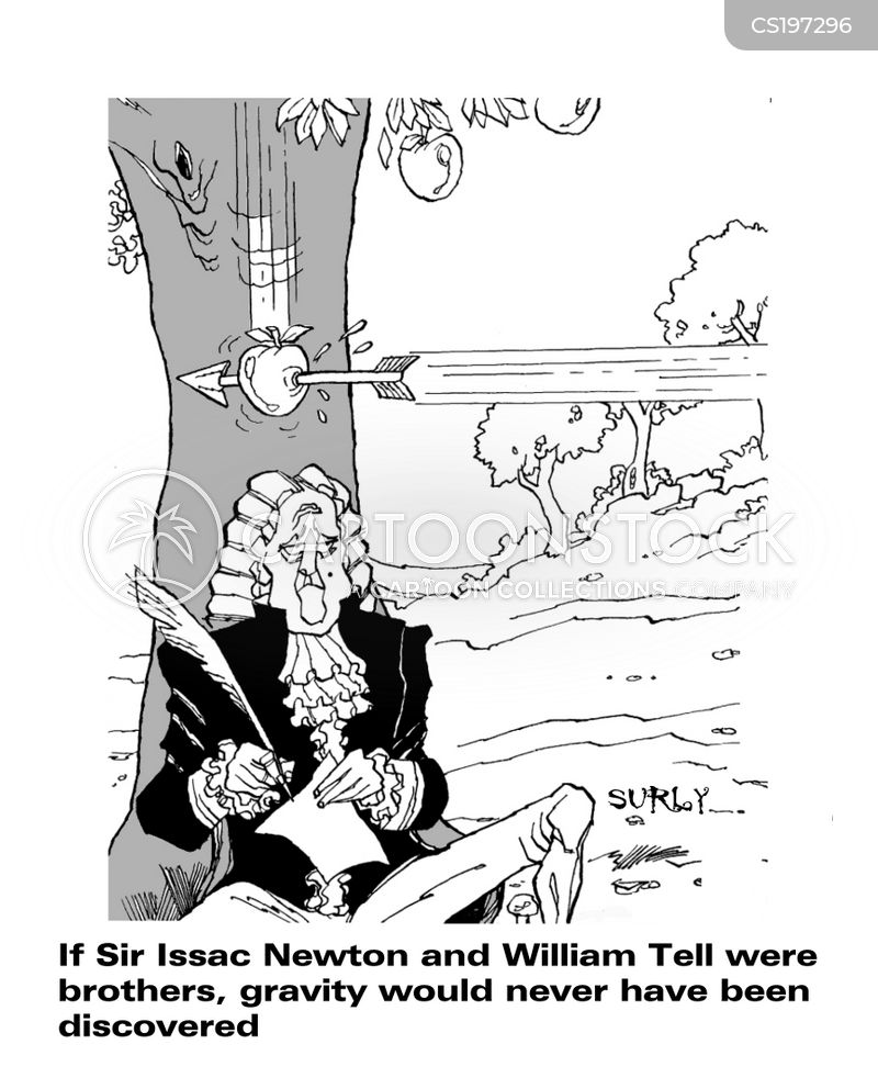 Newton Cartoon, Newton Cartoons, Newton Bild, Newton Bilder, Newton Karikatur, Newton Karikaturen, Newton Illustration, Newton Illustrationen, Newton Witzzeichnung, Newton Witzzeichnungen