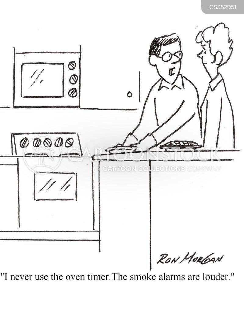 smoke alarm cartoon