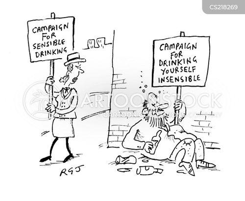 alcohol abuse cartoon