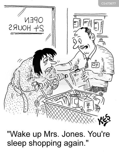 grocery shipping cartoon